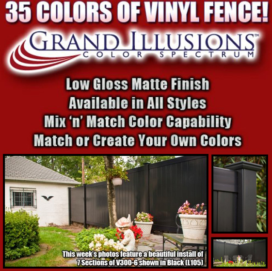 are you looking for black vinyl fence